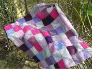 Stash busting patchwork blanket. Easy peasy.
