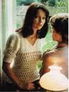 1970's pretty crochet evening or summer top