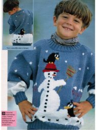 Children's Christmas snowman jumper 2