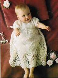 Heirloom crochet christening dress/robe