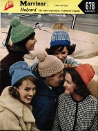 "5 assorted hats ""for many occasions"""