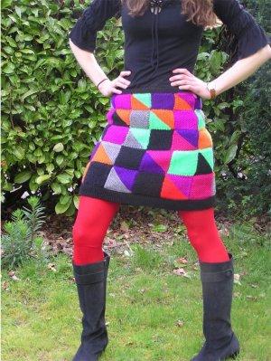 Pattern no.675 patchwork mini skirt