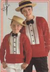 Fun dress shirt & bow tie Christmas jumpers for kids & kidults