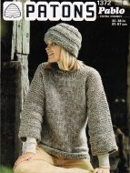 Boxy tunic in super chunky + hat
