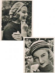 2 1950's beret style hats