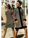 Tweed sheath dress coat & hat