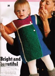 Fun multicolour thick baby/toddler coat