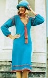 Tie neck dress with pretty smock style details