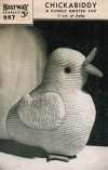 Charming Easter chick toy from the war years