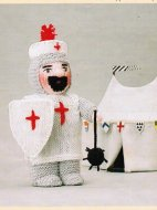 Crusader knight doll / toy