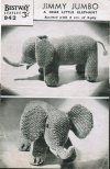 "Delightful ""jumbo"" toy elephant from the 1940's"