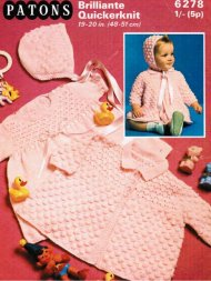 Bobble pattern coat dress and hat set