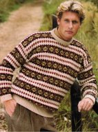 Country style fair isle men's jumper