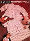Beautiful crochet baby dress & cardigan set