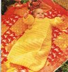 Quick to crochet baby sleeping bag