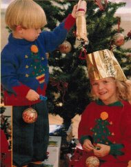 Children's Christmas tree picture jumpers