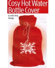 Snowflake pattern hot water bottle cover