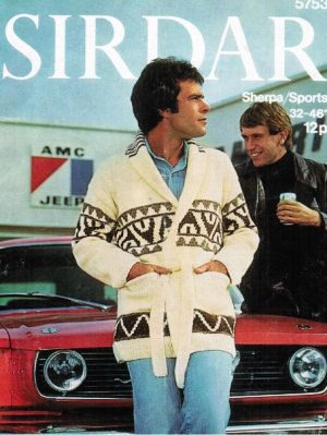 Starsky & Hutch patterned shawl cardigan