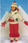 Child's Christmas hat, scarf, gloves & jumper set