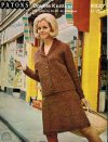 "Great plus size 60's ""tweed"" skirt suit 38-46"""