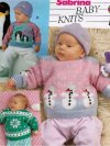 3 baby Christmas jumpers - penguin, snowman snowflake