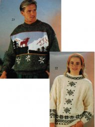 2 winter Christmas jumpers - stag & stars