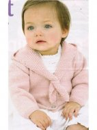 Sweet baby cardigan with sailor style hood