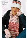Adult's fair isle scarf hat & gloves set