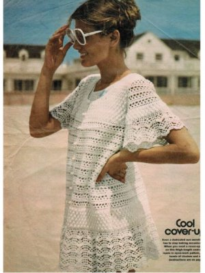 Fab finely crocheted summer beach dress