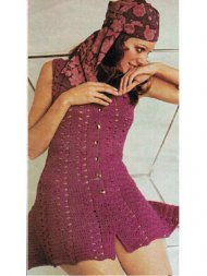 Crochet summer mini dolly dress