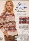 Snowflake pattern fair isle jumper