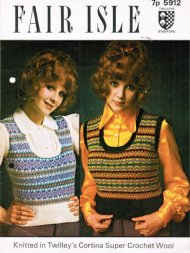 Two fair isle patterned tank tops