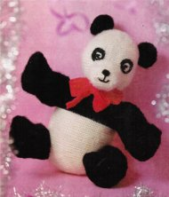 Giant panda toy for Christmas