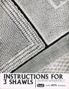3 fine traditiional baby shawls to knit or crochet