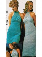 Halter neck crochet summer or evening dresses