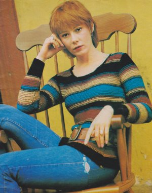 Easy striped garter stitch fitted jumper from the 70's