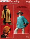 Retro poncho beret & scarf - totally 70's
