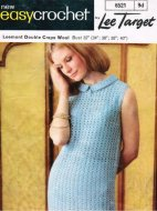 Simple elegant crochet dress with little collar