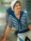 Striped sailor collar top
