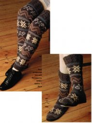Christmas snowflake slipper socks & legwarmers