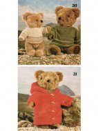 Paddington style duffle coat & jumper teddy bear clothes