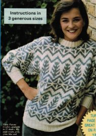 Chunky Icelandic tree pattern fair isle jumper