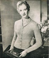 Neat shawl collar cardigan from the 50's