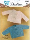 2 crochet baby boy or girl cardigans