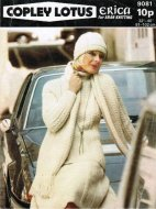 Aran skirt, polo neck, hat & scarf