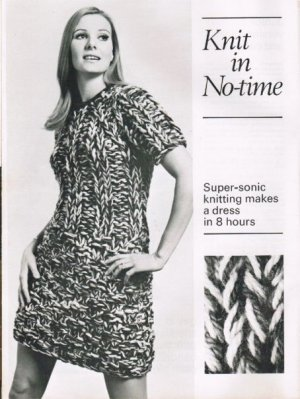 """Supersonic"" 60's chunky knit dress"