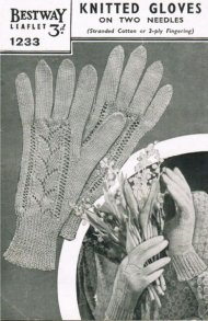 Beautiful 40's fine lacy cotton gloves