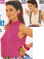2 funky loose summer tops from the 80's