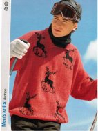 Reindeer patterned his & hers ski jumper