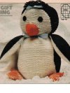 Sweet penguin toy with felt features